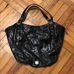 Kooba Black Patent Leather Hobo Tote
